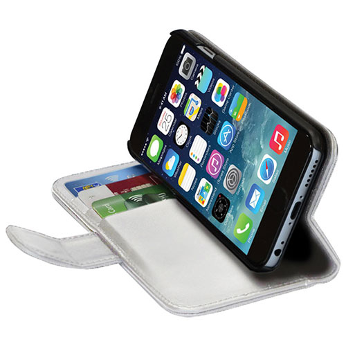 Étui portefeuille Lambskin de GelGrip pour iPhone 6s - Blanc