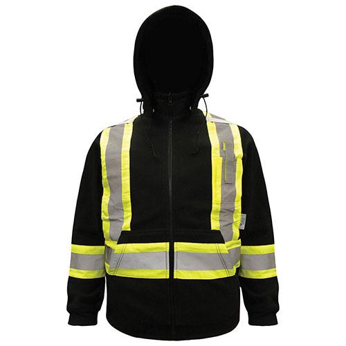 Chandail de sécurité à capuche pour hommes en molleton de Viking (6420BK-XL) - Très grand - Noir