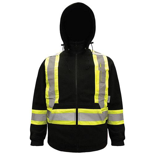 Viking Men's Fleece Safety Hoodie (6420BK-S) - Small - Black