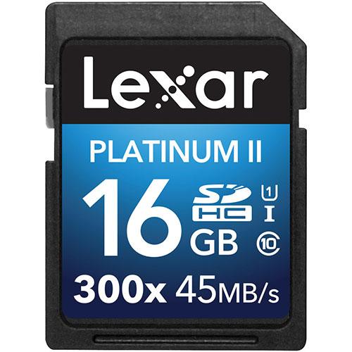 Lexar Platinum II 16GB SDHC/SDXC Class 10 Memory Card