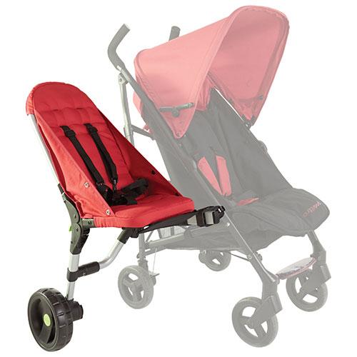 Buggypod Lite Side Seat Stroller - Red