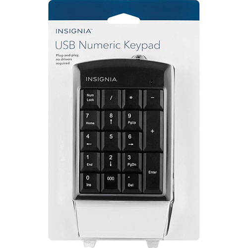 Insignia USB Numeric Keypad (NS-PNK6A01-C)