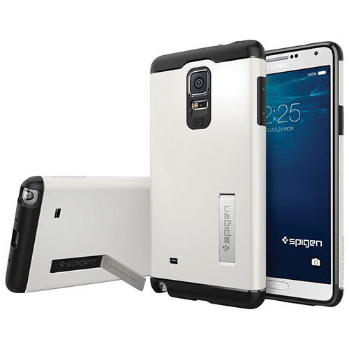 Spigen Samsung Galaxy Note 4 Fitted Hard Shell Case - Shimmery White