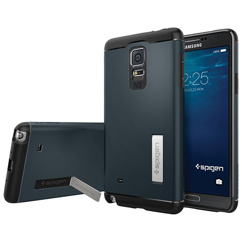 Spigen Samsung Galaxy Note 4 Fitted Hard Shell Case - Metal Slate (SGP11127)
