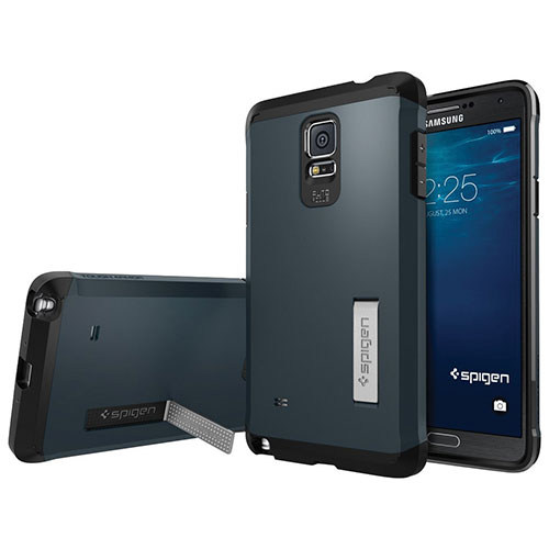 Spigen Samsung Galaxy Note 4 Fitted Hard Shell Case - Metal Slate (SGP11140)