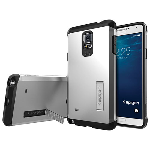 Spigen Samsung Galaxy Note 4 Fitted Hard Shell Case - Silver