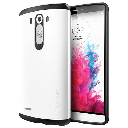 Spigen LG G3 Fitted Hard Shell Case - Shimmery White