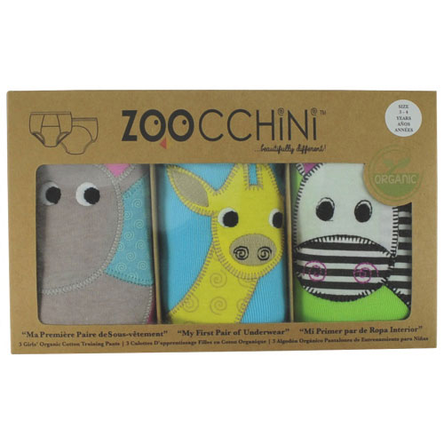 Zoocchini Girls Organic Cotton Potty Training Pants - Safari Friends - 2T/3T