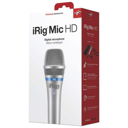 Microphone HD iRig d'IK Multimedia (iIPIRIGMICHDN)