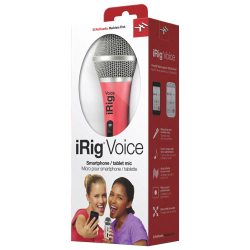Microphone vocal iRig d'IK Multimedia pour iPhone/iPod touch/iPad (IRIGMICVORIN) - Rose