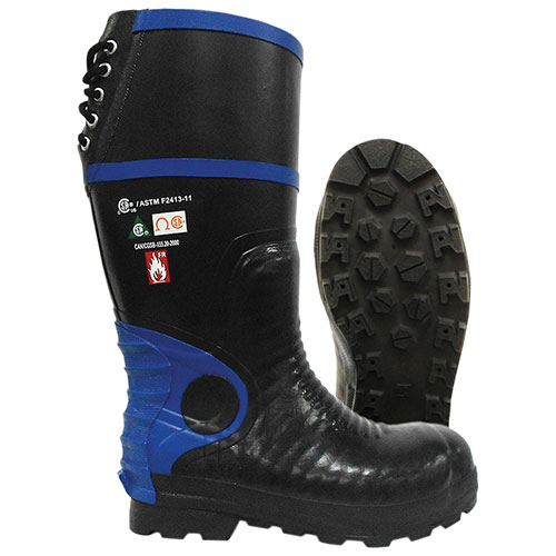 Viking Men's Ultimate Firewall FR Boots (VW88T) - Size 7 - Black/Blue