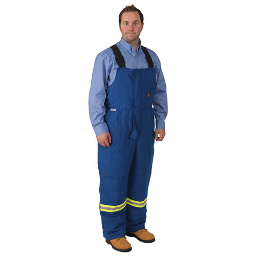 Viking FIREWALL FR Striped Insulated Bib Overall - Large - Royal Blue