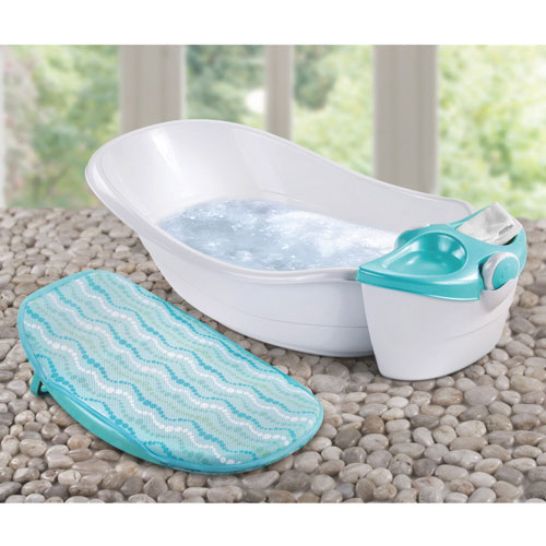 Summer Infant Soothing Waters Baby Bath & Spa Tub - White/Teal ...