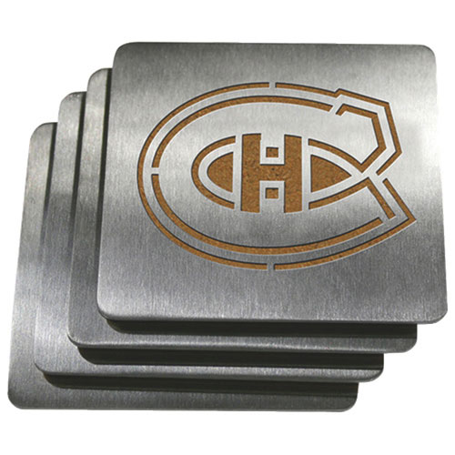 Sportula Montreal Canadiens Stainless Steel Coasters - 4 Pack