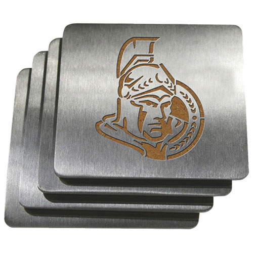 Sportula Ottawa Senators Stainless Steel Coasters - 4 Pack