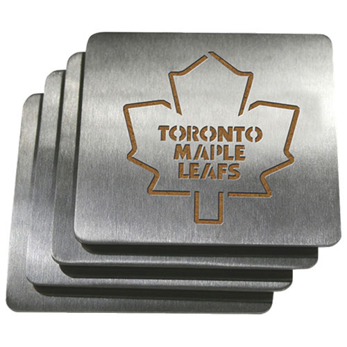 Sportula Toronto Maple Leafs Stainless Steel Coasters - 4 Pack