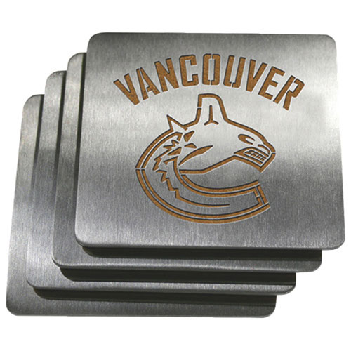 Sportula Vancouver Canucks Stainless Steel Coasters - 4 Pack