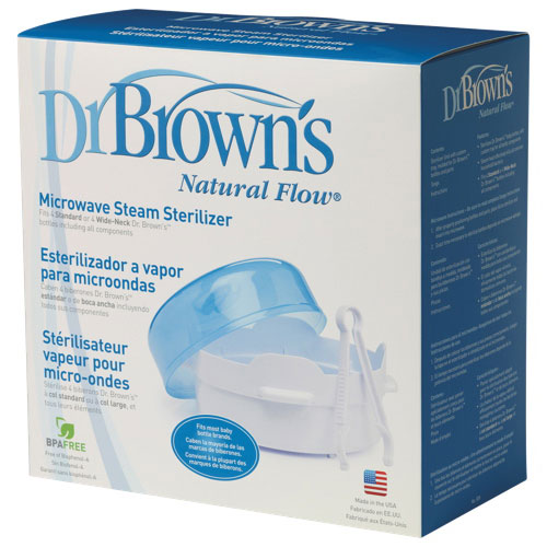 Dr Browns Natural Flow Microwave Steam Bottle Sterilizer White
