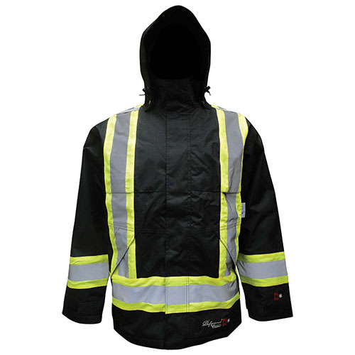 Manteau étanche ininflammable isolé de Viking - TTTTG - Noir