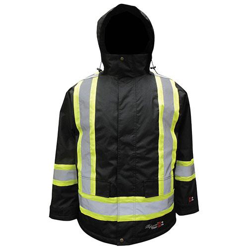 Manteau imperméable à isolation thermique avec traitement antiflamme de Viking - Très grand - Noir