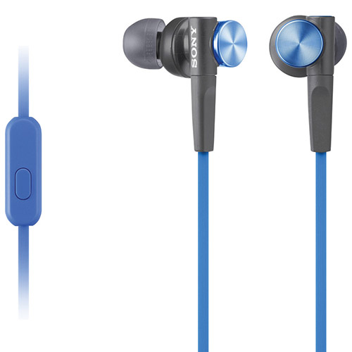 Sony Extra Bass In-Ear Sound Isolating Headphones (MDRXB50APL) - Blue