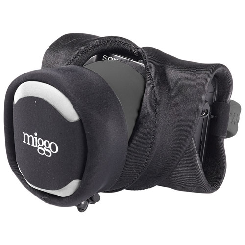 miggo Grip & Wrap Neoprene/Lycra 2-in-1 Mirrorless Camera Strap/Case (MM20049) - Black