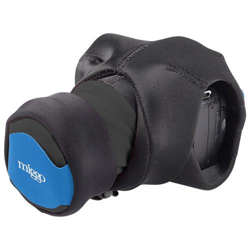 miggo Grip & Wrap Neoprene/Lycra 2-in-1 Mirrorless Camera Strap/Case (MM20087) - Black/Blue