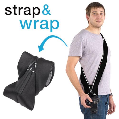 miggo Strap & Wrap Zebranation Neoprene/Lycra 2-in-1 DSLR Camera Strap/Case (MM20216) - Black/White