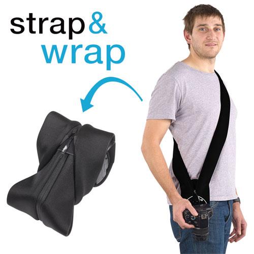 miggo Strap & Wrap Neoprene/Lycra 2-in-1 DSLR Camera Strap/Case (MM20018) - Black
