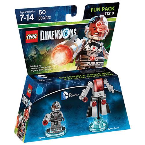 Ensemble amusant Héros DC Comics avec figurine de Cyborg pour LEGO Dimensions