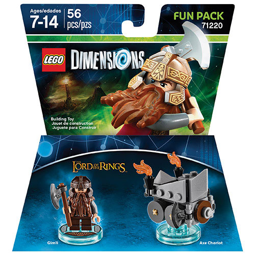 LEGO Dimensions Lord of the Rings Gimli Fun Pack
