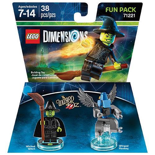 Ensemble Héros Le Magicien d'Oz avec figurine de la sorcière pour LEGO Dimensions