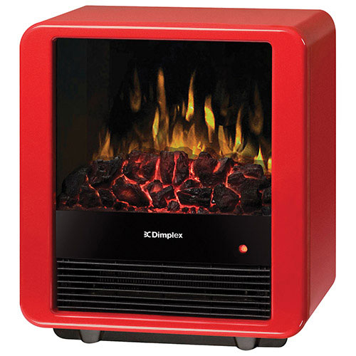 Dimplex Mini Cube Freestanding Electric Stove Fireplace (DMCS13R) - Gloss Red