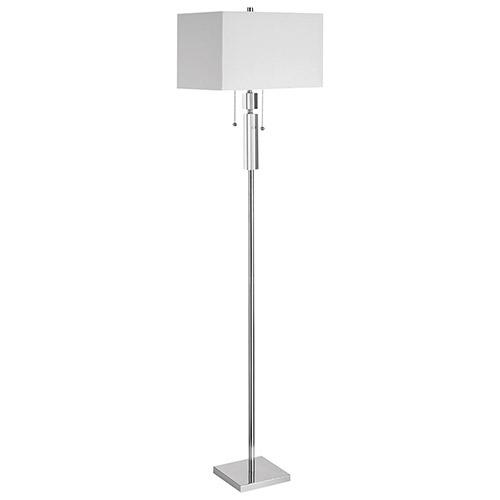 Lampadaire d'Aurora Lighting (ECT-DL4231015) - Chromé poli-blanc