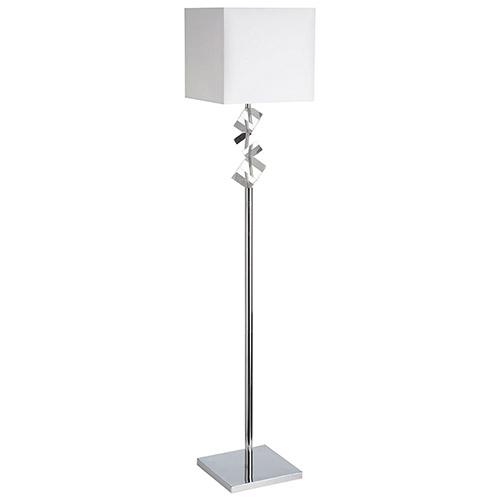Aurora Lighting Shath Floor Lamp (ECT-DL4602006) - Polished Chrome/White
