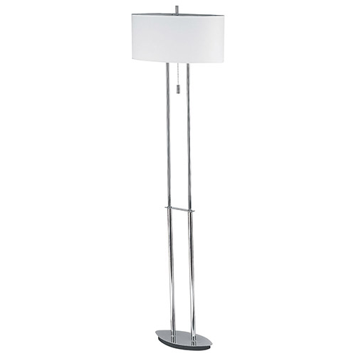 Lampadaire Vertiga d'Aurora Lighting (ECT-DL4222228) - Chromé poli-blanc