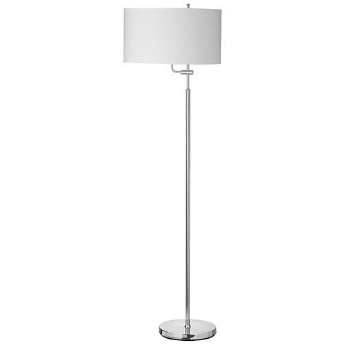 Aurora Lighting Kale Floor Lamp (ECT-DL4156004) - Polished Chrome/White