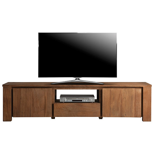 "Urban Woodcraft TV Stand for TVs Up To 71"" - Natural Wood"