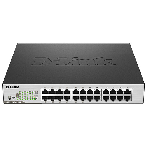 Commutateur PoE EasySmart Gigabit à 24 ports de D-Link (DGS-1100-24P) - Anglais