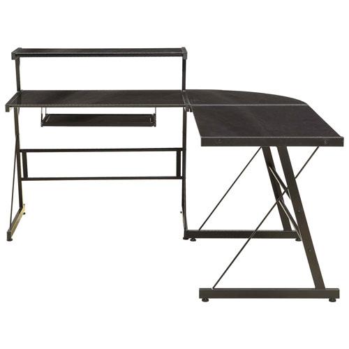 Broderick L Shaped Corner Desk   Black : Desks U0026 Workstations   Best Buy  Canada