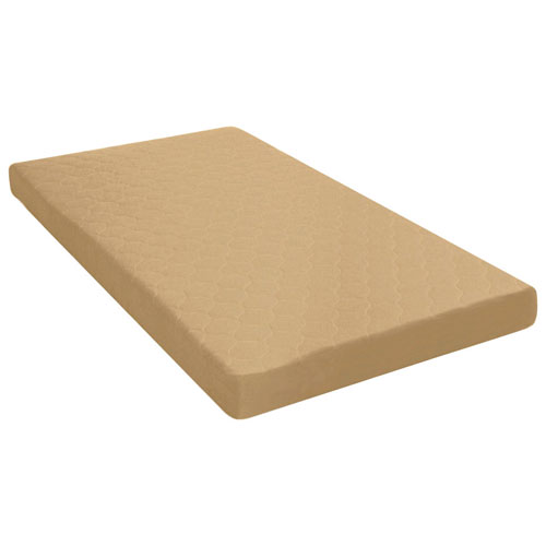dhp single latex foam mattress tan