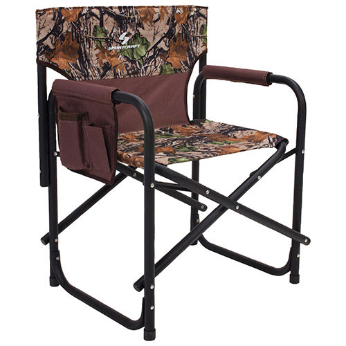 Sportcraft BigBoy Director Camping Chair   Brown/Camo   Online Only