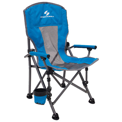 sportcraft kids camping chair - blue : camp & folding chairs
