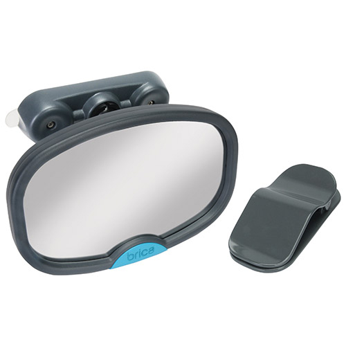 Brica Deluxe Stay-in-Place Car Mirror - Black