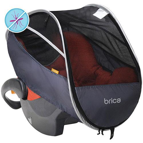 Protecteur rétractable pour siège d'auto pour enfant de Brica - Gris