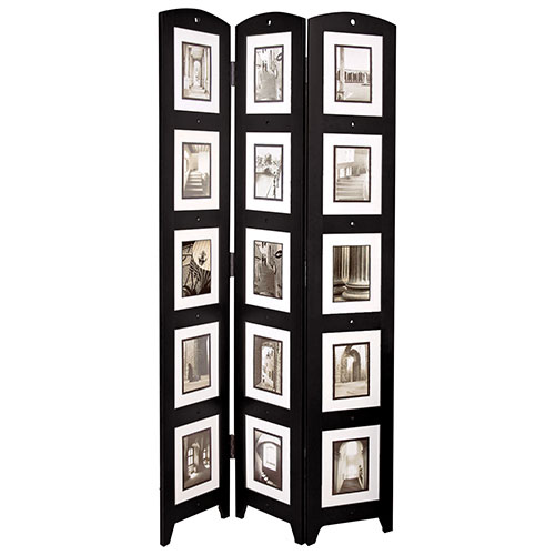 nexxt 3-Panel Photo Frame Floor Screen - Black