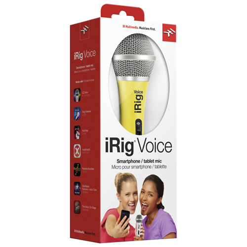 IK Multimedia iRig Voice Handheld Microphone for iPhone/iPod Touch/iPad (IRIGMICVOGIN) - Green