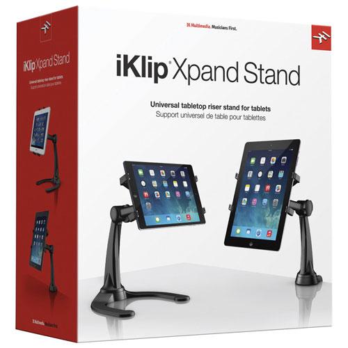 IK Multimedia iKlip Xpand Tablet Stand (IPIKLIPXPAND) - Black