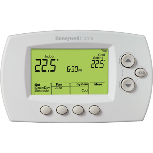 honeywell wi fi smart thermostat rth6580wf1006 w smart thermostats best buy canada. Black Bedroom Furniture Sets. Home Design Ideas