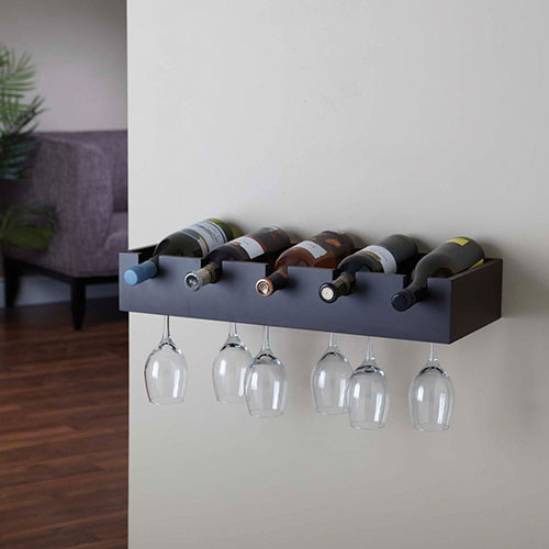casier vin et tablette porte verre vin ellington. Black Bedroom Furniture Sets. Home Design Ideas
